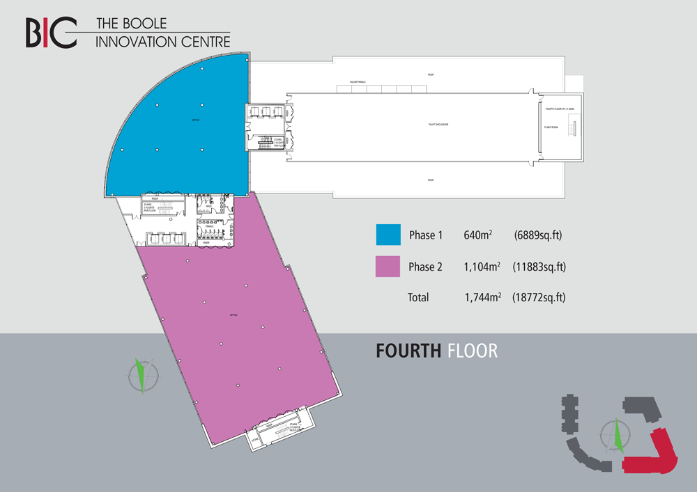 Boole Innovation Centre floorplan of fourth floor