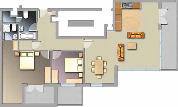 Diagram of Jacobs Island Apartments penthouse floorplan