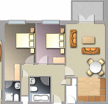 Diagram of Jacobs Island Apartments 2-bed Type B floorplan
