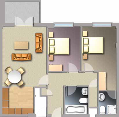 Diagram of Jacobs Island Apartment 2-bed Type C floorplan
