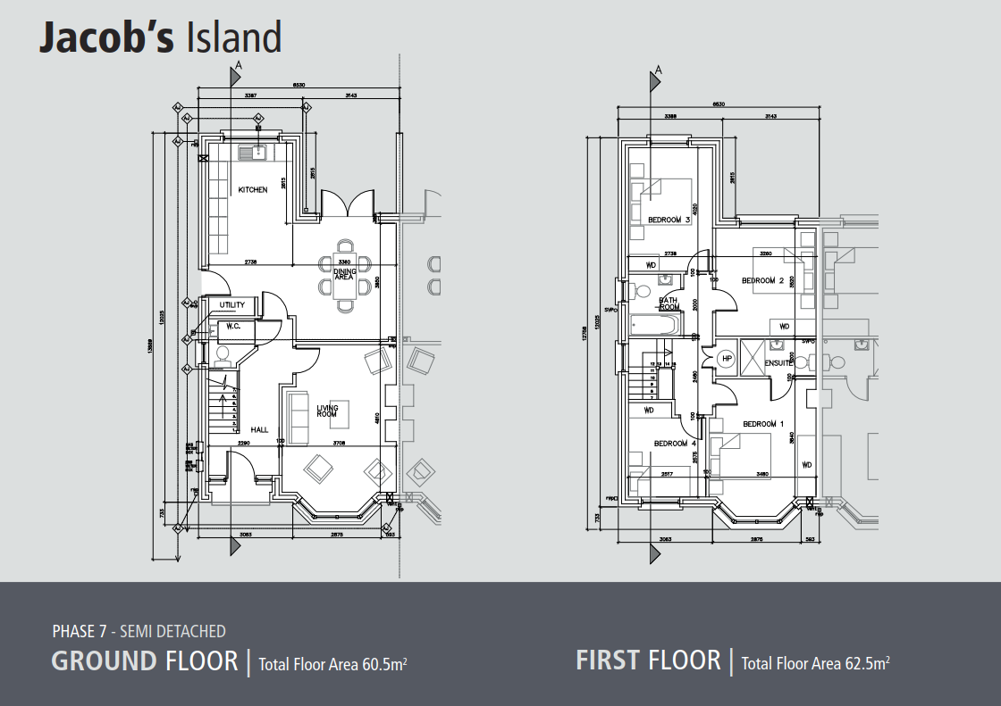 Jacobs Island House semi detached site plan