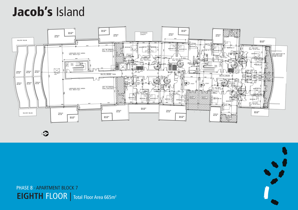 Jacobs Island Apartments Block 7 floorplan eighth floor