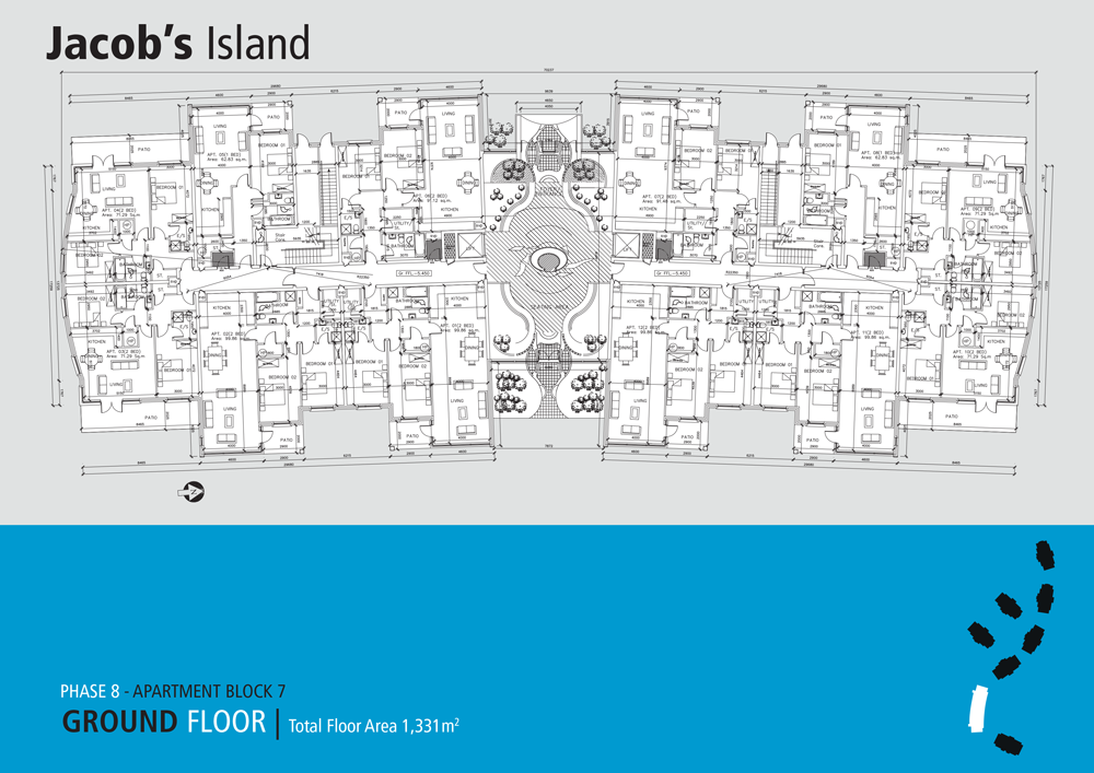 Jacobs Island Apartments Block 7 floorplan ground floor