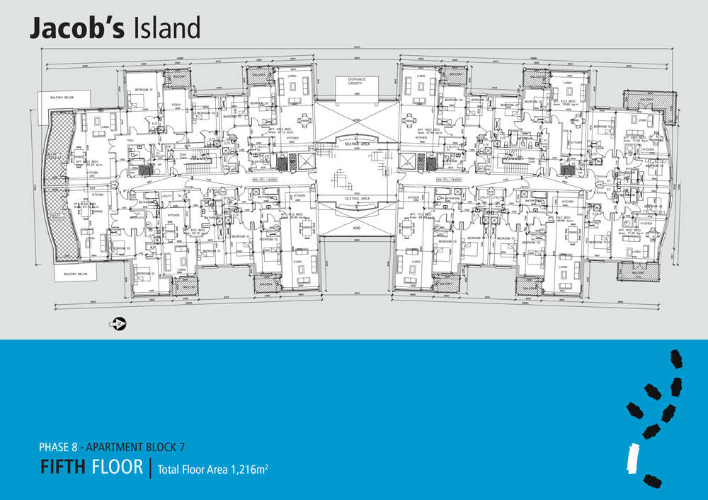 Jacobs Island Apartments Block 7 floorplan fifth floor