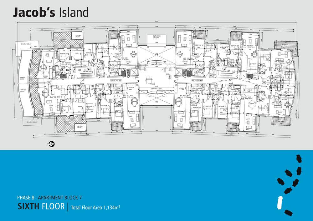 Jacobs Island apartments Block 7 floorplan sixth floor