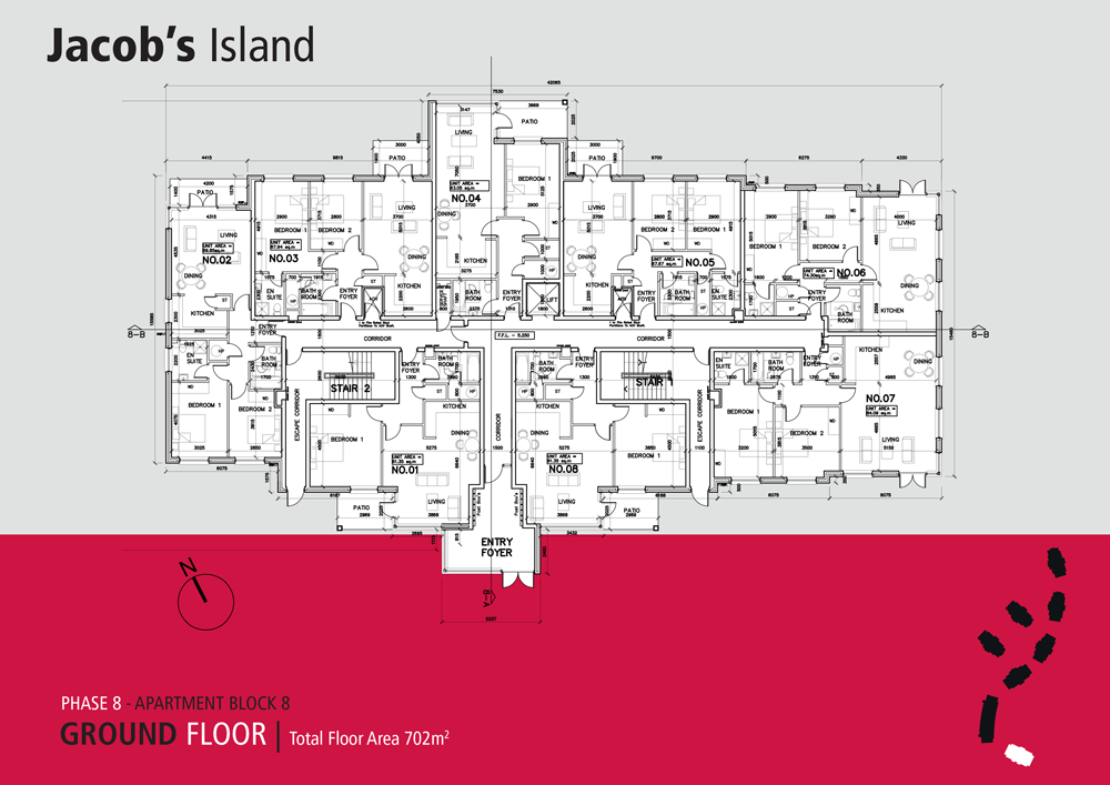 Jacobs Island Apartments Block 8 floorplan ground floor