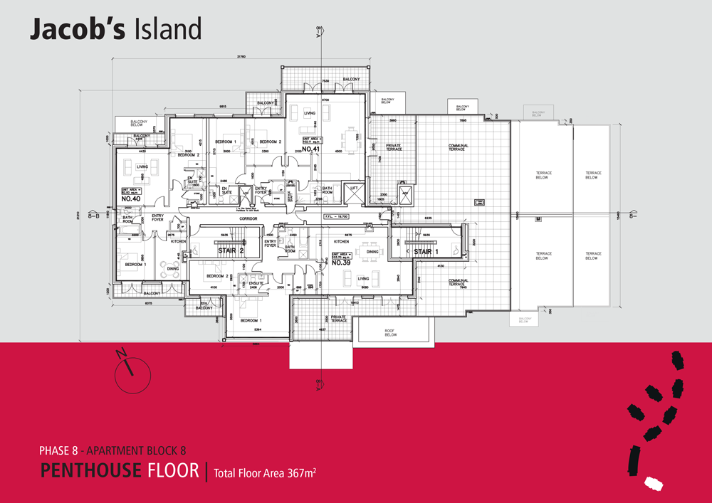 Jacobs Island Apartments Block 8 penthouse floorplan