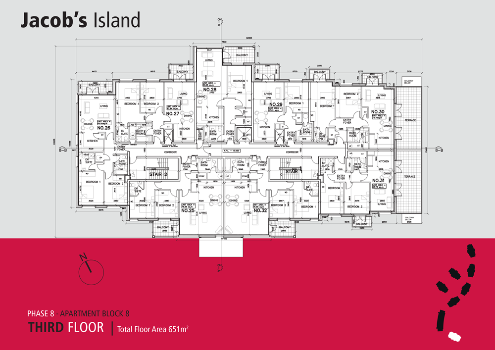 Jacobs Island Apartments Block 8 floorplan third floor