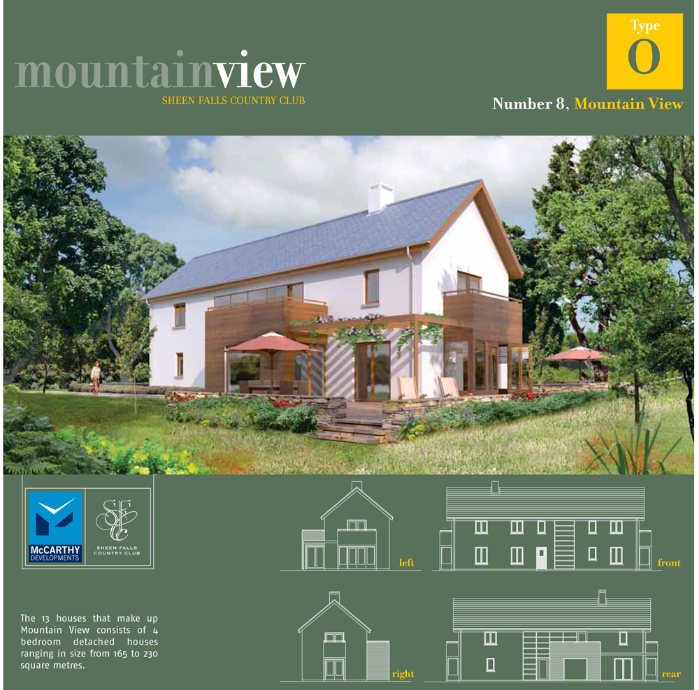 Sheen Falls Mountain View floorplan for No 8