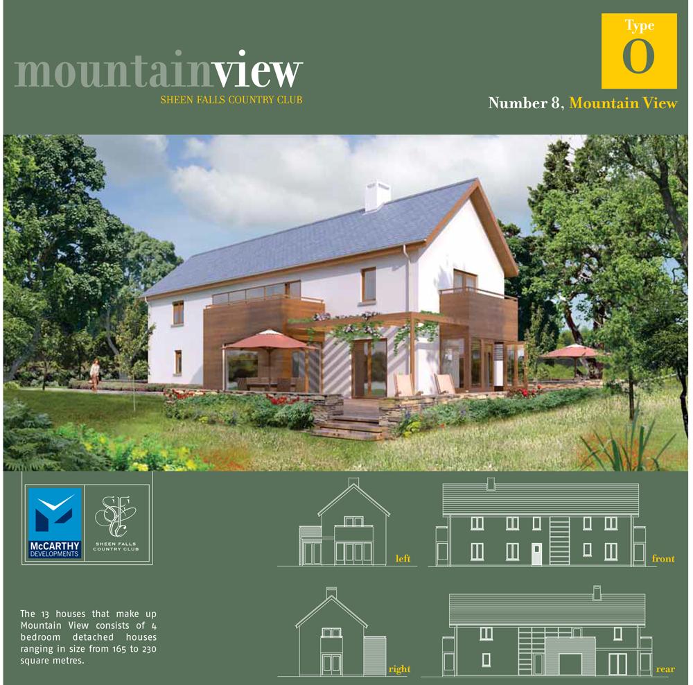Sheen Falls Mountain View floorplan for No 8