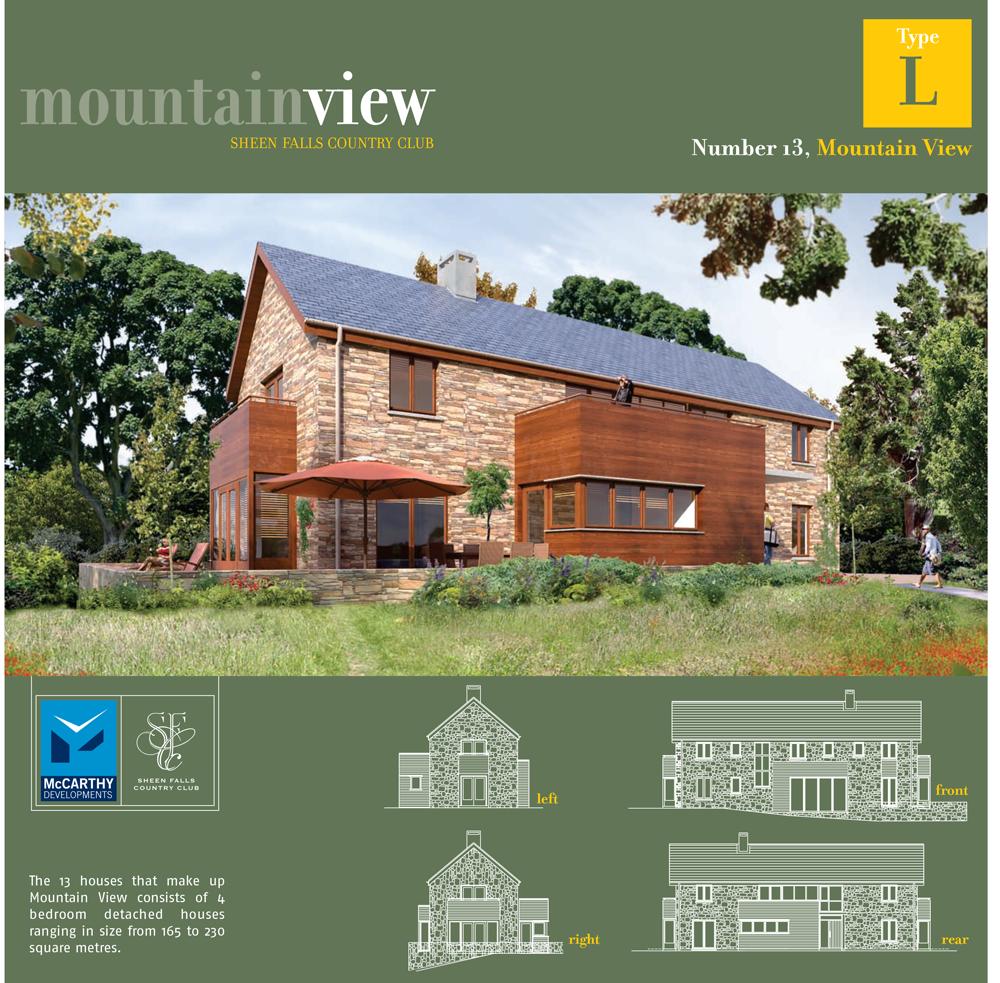 Sheen Falls Mountain View floorplan for no 13