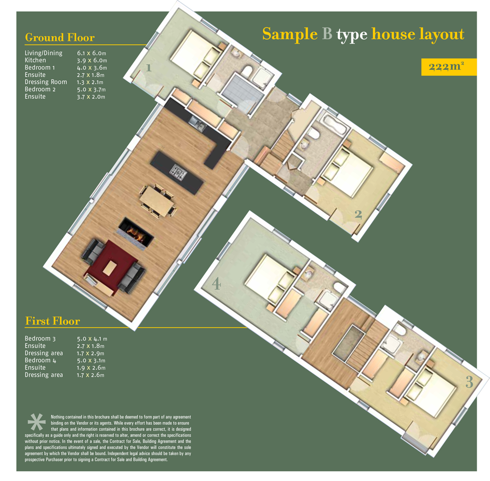 Sheen Falls Mountain View floorplan for Type B
