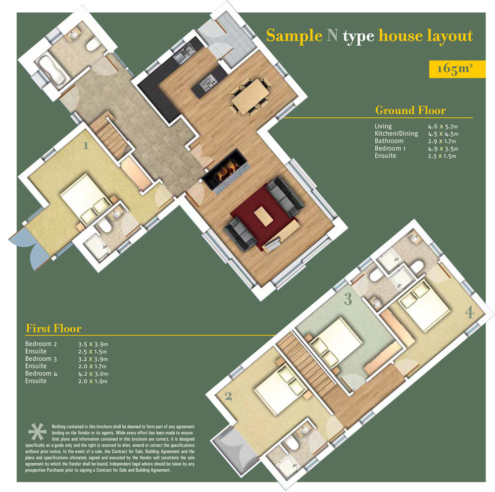 SheenFallsMountainView floor plan Type N