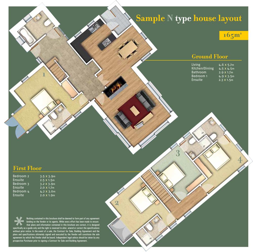 SheenFallsMountainView floor plan Type N