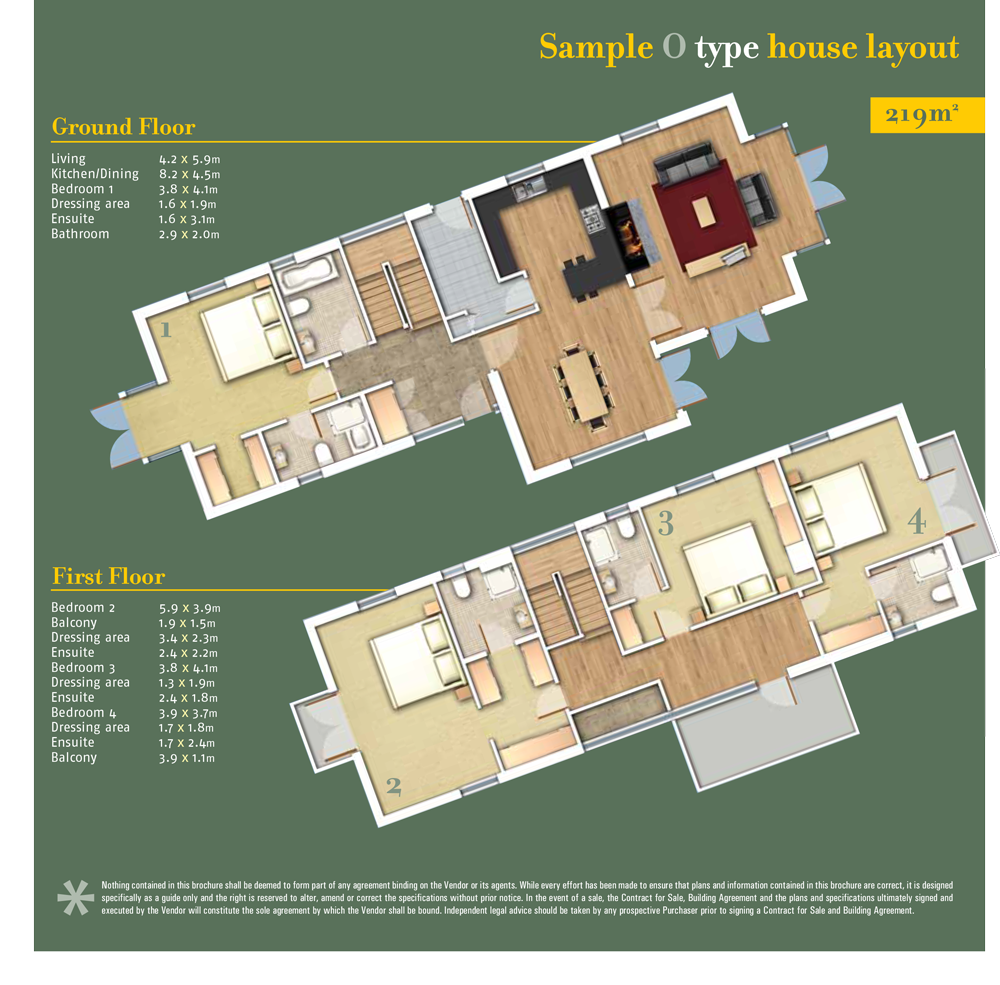 Sheen Falls Mountain View floorplan for Type O