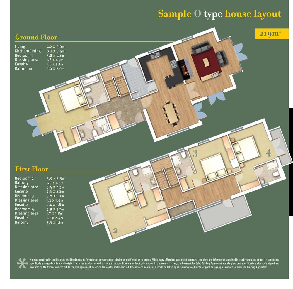 Sheen Falls Mountain View floorplan for Type O