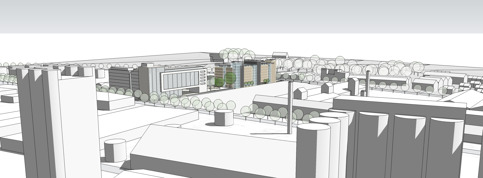 Artists Impression from above Centre Park Boulevard