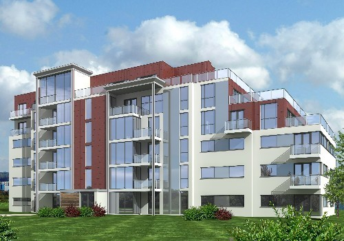 Artist's impression of Jacobs Island Apartments Block 8