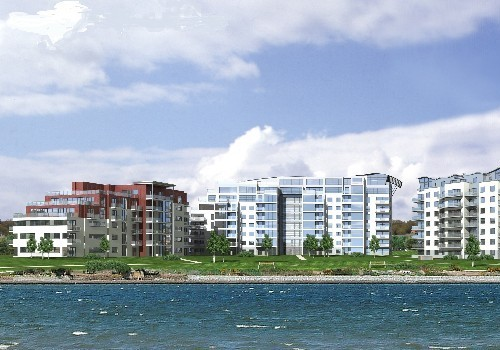 Artist's impression of Jacobs Island Apartments Block 9